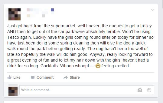 Treating Facebook Like a Diary
